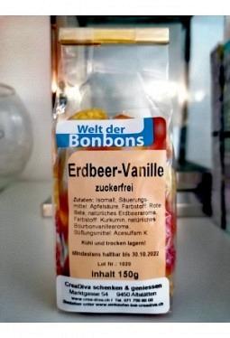 Erdbeer- Vanille Bonbon zuckerfrei 150gr