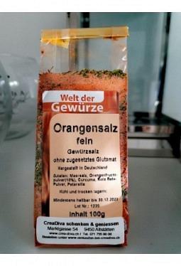 Gewürzsalz Orange 100gr
