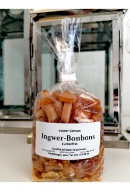 Ingwer Bonbon zuckerfrei 150g
