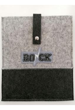 """Tablet- Tasche Filz mit Motiv """"Rock"""" 26x22cm"""