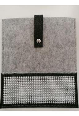 Tablet- Tasche Filz mit Glitzerband 26x22cm