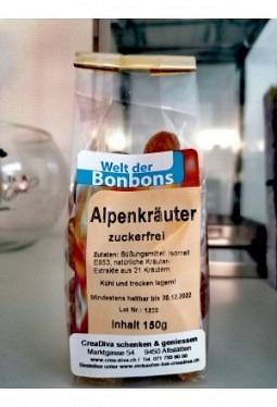 Alpenkräuter- Bonbon zuckerfrei 150gr